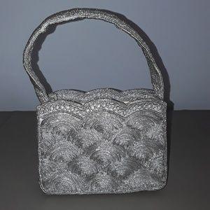 Vintage silver  shell pattern bag